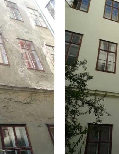 Fassadensanierung Hof Wien 7.